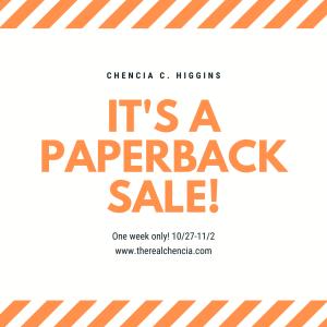 it's a paperback sale!
