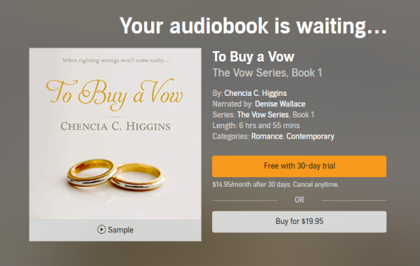 audible to buy a vow